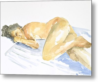 Nude Serie Metal Print by Eugenia Picado