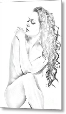 Nude Sketch Metal Print