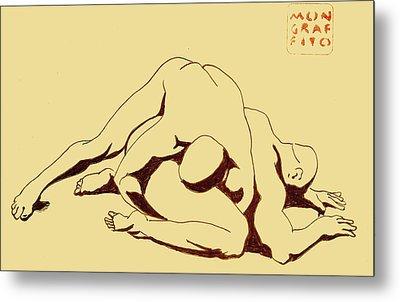 Nude Wrestlers 4 Metal Print