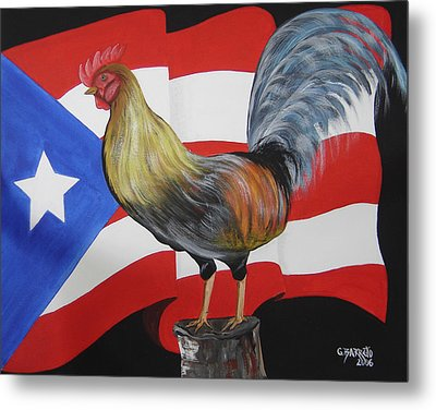 Nuestro Orgullo  Meaning Our Pride Metal Print by Gloria E Barreto-Rodriguez