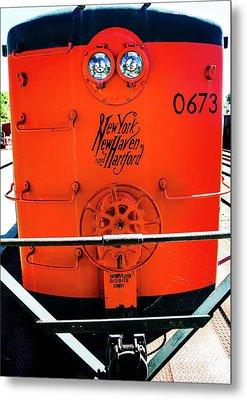 Number 0673 Train Metal Print by Karol Livote