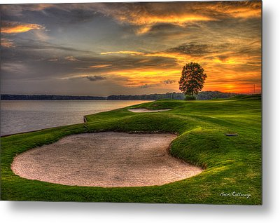 Metal Print featuring the photograph Number 4 Sunset Traps Reynolds Plantation by Reid Callaway