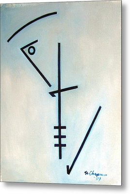 Number Five Blue Monk Metal Print