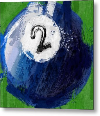 Number Two Billiards Ball Abstract Metal Print by David G Paul