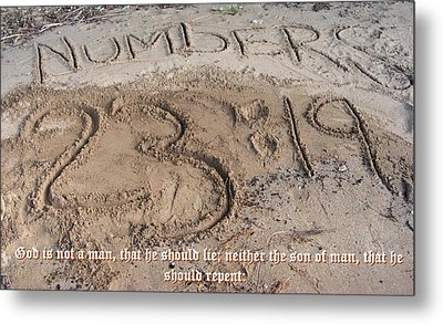 Numbers Twenty Three Nineteen Metal Print by D R TeesT