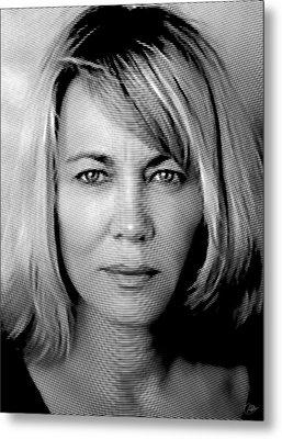 Nuria Hosta Ink Portrait Metal Print