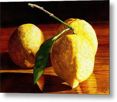 Nurse Beckys Lemons Metal Print by Catherine G McElroy