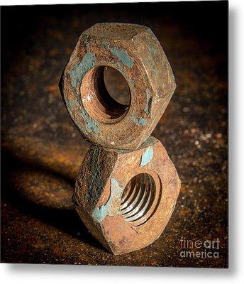 Nut- Fastener Metal Print by Bernard Jaubert