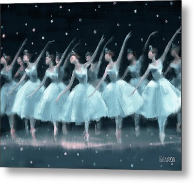 Nutcracker Ballet Waltz Of The Snowflakes Metal Print by Beverly Brown