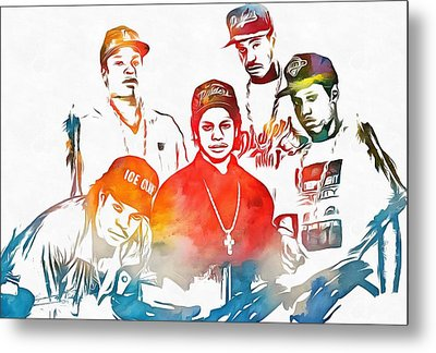 Nwa Color Tribute Metal Print by Dan Sproul