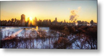 Ny Winter Panaroma Metal Print by Ariane Moshayedi