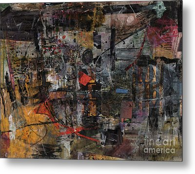 Nyc Abstract Metal Print by Robert Anderson