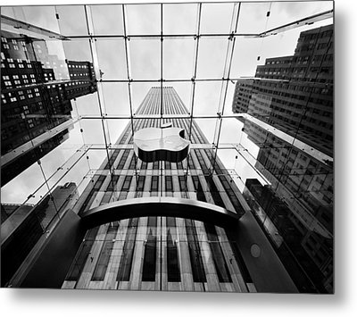 Nyc Big Apple Metal Print by Nina Papiorek