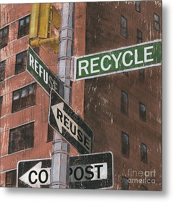 Nyc Broadway 1 Metal Print by Debbie DeWitt