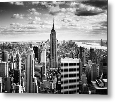 Nyc Downtown Metal Print by Nina Papiorek
