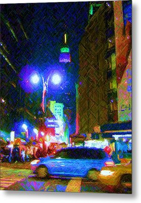 Metal Print featuring the photograph Nyc In Tie Dye by Susan Carella