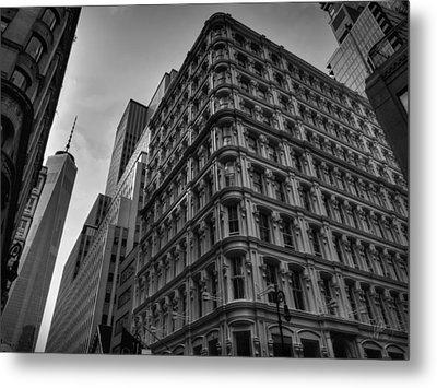 Nyc - Lower Manhattan 002 Bw Metal Print by Lance Vaughn