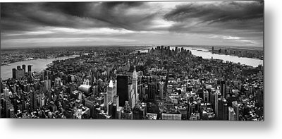 Nyc Manhattan Panorama Metal Print