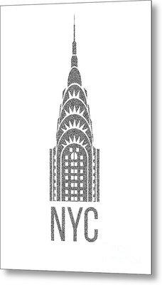 Nyc New York City Graphic Metal Print