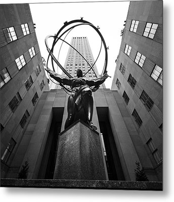 Nyc Rockefellar Center Metal Print