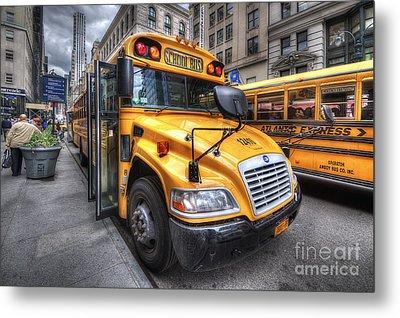 Nyc School Bus Metal Print by Yhun Suarez