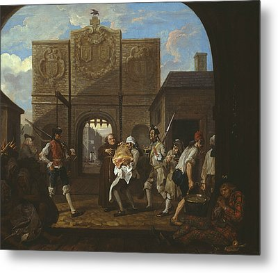 O The Roast Beef Of Old England Metal Print by William Hogarth