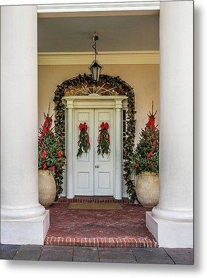 Metal Print featuring the photograph Oak Alley Plantation Doors by Paul Freidlund