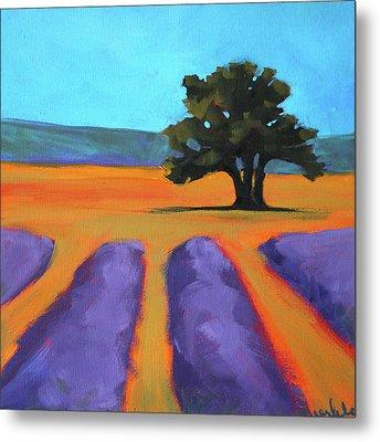 Oak And Lavender Metal Print by Nancy Merkle