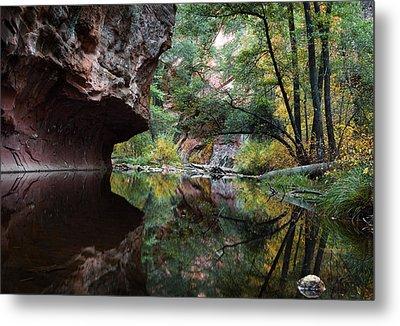 Oak Creek Canyon Reflections Metal Print by Dave Dilli