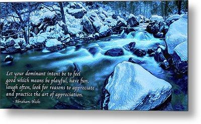 Oak Creek Snow - Appreciation Metal Print by ABeautifulSky Photography