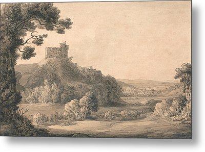 Oakhampton Castle Metal Print
