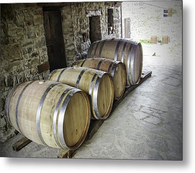 Oaking Wine Metal Print