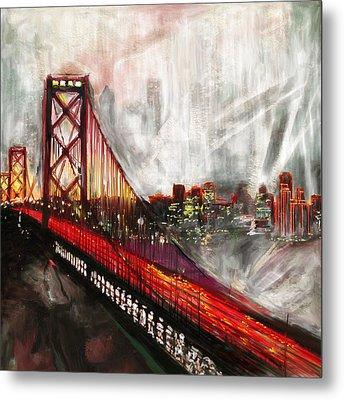 Oakland Bay Bridge 223 2 Metal Print by Mawra Tahreem