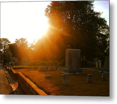 Oakland Cemetery In Atlanta Metal Print by Utopia Concepts