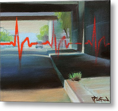 Metal Print featuring the painting Oakland by Dave Platford
