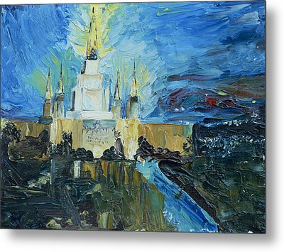 Oakland Temple Metal Print