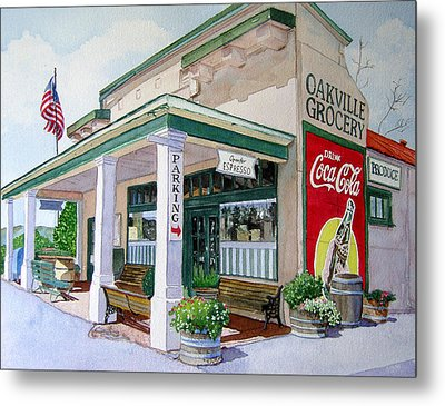 Metal Print featuring the painting Oakville Grocery by Gail Chandler