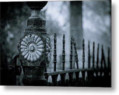 Metal Print featuring the photograph Oakwood Cemetery by Linda Unger