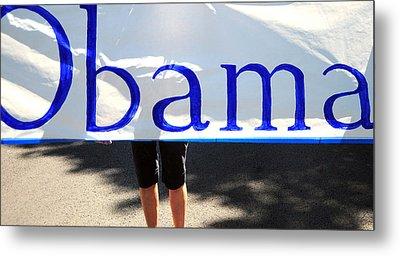 Obama Banner. Metal Print