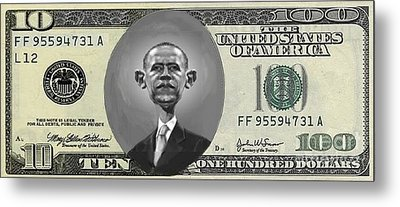Obama Dollar Metal Print by Charles Robinson