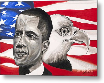 Obama Metal Print by Keith  Thurman