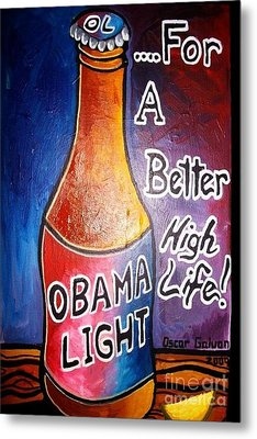 Obama Light Metal Print