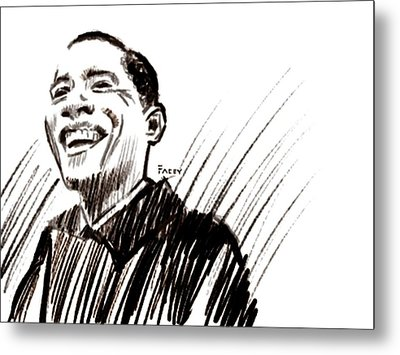 Obama Metal Print by Michael Facey