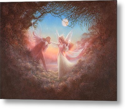 Oberon And Titania Metal Print by Jack Shalatain