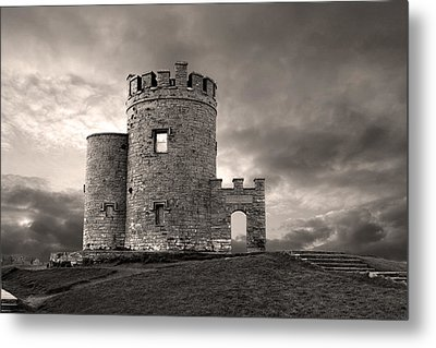 O'brien's Tower At The Cliffs Of Moher Ireland Metal Print by Pierre Leclerc Photography