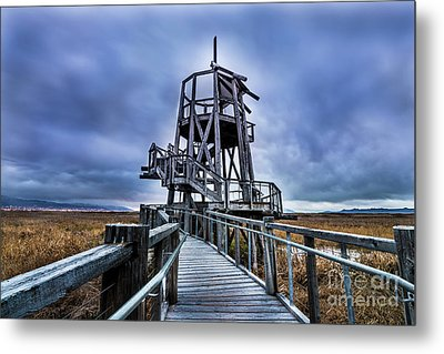 Observation Tower - Great Salt Lake Shorelands Preserve Metal Print by Gary Whitton