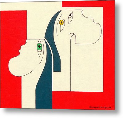 Obstinate Metal Print by Hildegarde Handsaeme