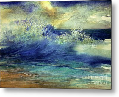 Metal Print featuring the painting Ocean by Allison Ashton