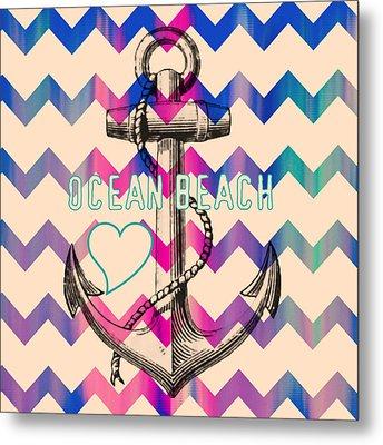 Ocean Beach Anchor Metal Print