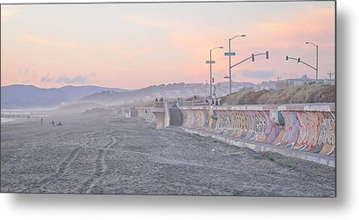 Ocean Beach Metal Print by Jane Hu